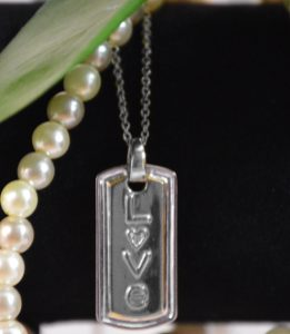 love plate beading silver