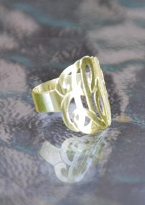 monogram ring gold 2