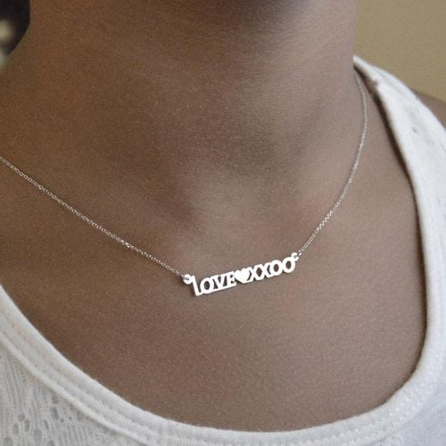 Name necklace 14kcustom name necklace gvantsas fine designs on popo loveheartxxoo white gold aloadofball Gallery