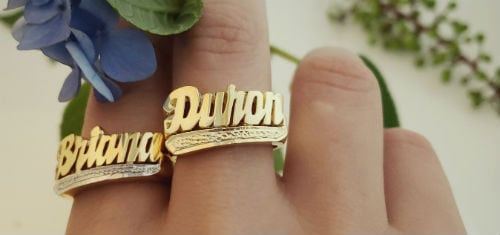 elegant custom name rings