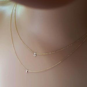 Double initial necklace